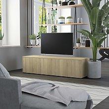 vidaXL TV Cabinet Sonoma Oak 120x34x30 cm Chipboard