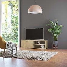 vidaXL TV Cabinet Sonoma Oak 120x34x37 cm Chipboard