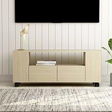 vidaXL TV Cabinet Sonoma Oak 120x35x43 cm Chipboard