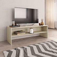 vidaXL TV Cabinet Sonoma Oak 120x40x40 cm Chipboard