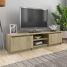 vidaXL TV Cabinet Sonoma Oak 140x40x35.5 cm