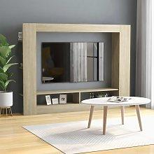 vidaXL TV Cabinet Sonoma Oak 152x22x113 cm