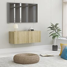 vidaXL TV Cabinet Sonoma Oak 80x30x30 cm Chipboard