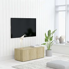 vidaXL TV Cabinet Sonoma Oak 80x34x30 cm Chipboard