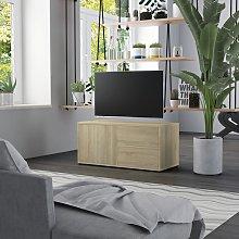 vidaXL TV Cabinet Sonoma Oak 80x34x36 cm Chipboard