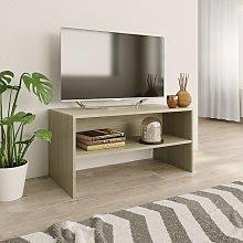 vidaXL TV Cabinet Sonoma Oak 80x40x40 cm Chipboard