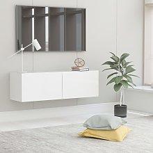 vidaXL TV Cabinet White 100x30x30 cm Chipboard