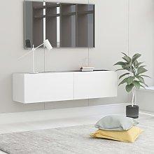 vidaXL TV Cabinet White 120x30x30 cm Chipboard