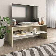 vidaXL TV Cabinet White and Sonoma Oak 100x40x40