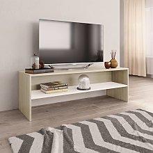 vidaXL TV Cabinet White and Sonoma Oak 120x40x40