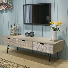 vidaXL TV Cabinet with 3 Drawers 120x40x36 cm Grey