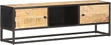vidaXL TV Cabinet with Carved Door 130x30x40 cm