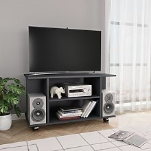 vidaXL TV Cabinet with Castors Grey 80x40x40 cm