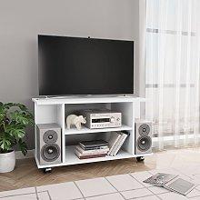 vidaXL TV Cabinet with Castors White 80x40x40 cm