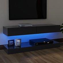 vidaXL TV Cabinet with LED Lights Grey 120x35 cm