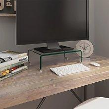 vidaXL TV Stand/Monitor Riser Glass Clear 40x25x11