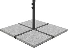 vidaXL Umbrella Stand with Weight Plates Grey and Black