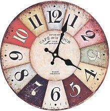 vidaXL Vintage Wall Clock Colourful 30 cm -