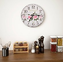 vidaXL Vintage Wall Clock Flower 30 cm -