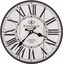 vidaXL Vintage Wall Clock London 30 cm - White