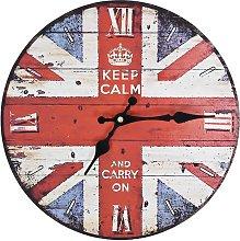 vidaXL Vintage Wall Clock UK 30 cm - Multicolour