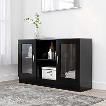 vidaXL Vitrine Cabinet Black 120x30.5x70 cm
