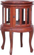 vidaXL Vitrine Cabinet Brown 50x50x76 cm Solid