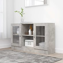 vidaXL Vitrine Cabinet Concrete Grey 120x30.5x70