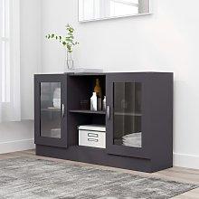 vidaXL Vitrine Cabinet Grey 120x30.5x70 cm