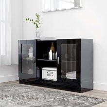 vidaXL Vitrine Cabinet High Gloss Black