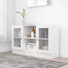 vidaXL Vitrine Cabinet High Gloss White