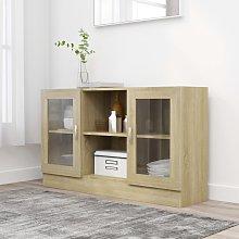 vidaXL Vitrine Cabinet Sonoma Oak 120x30.5x70 cm