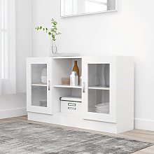 vidaXL Vitrine Cabinet White 120x30.5x70 cm