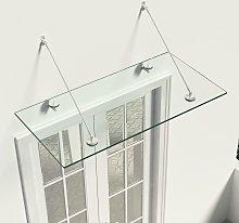 vidaXL VSG Safety Glass Canopy Front Door 120x60
