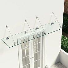 vidaXL VSG Safety Glass Canopy Front Door 240x60