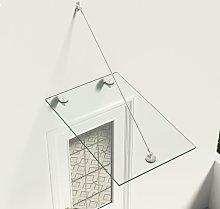 vidaXL VSG Safety Glass Canopy Front Door 90x60 cm