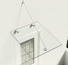vidaXL VSG Safety Glass Canopy Front Door 90x75 cm