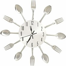 vidaXL Wall Clock with Spoon and Fork Design