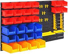 vidaXL Wall-Mountable Garage Tool Organiser