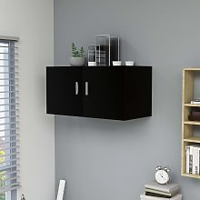 vidaXL Wall Mounted Cabinet Black 80x39x40 cm