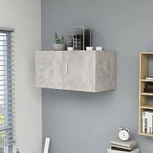 vidaXL Wall Mounted Cabinet Concrete Grey 80x39x40