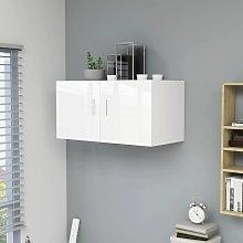 vidaXL Wall Mounted Cabinet High Gloss White