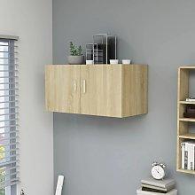 vidaXL Wall Mounted Cabinet Sonoma Oak 80x39x40 cm