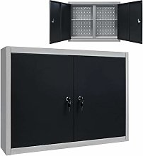 vidaXL Wall Mounted Tool Storage Cabinet Organiser