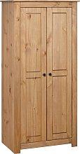 vidaXL Wardrobe 80x50x171.5 cm Solid Pine Panama