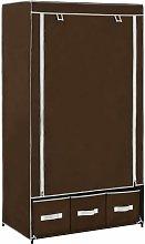 vidaXL Wardrobe 87x49x159 cm Fabric Brown - Brown