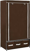 vidaXL Wardrobe Brown 87x49x159 cm Fabric