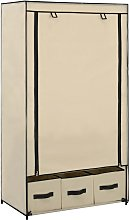 vidaXL Wardrobe Cream 87x49x159 cm Fabric