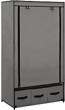 vidaXL Wardrobe Grey 87x49x159 cm Fabric