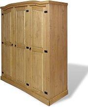 vidaXL Wardrobe Mexican Pine Corona Range 3 Doors